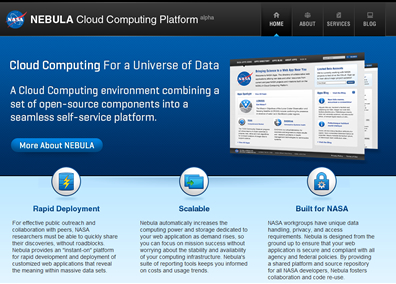 NASA's NEBULA Cloud Computing Website