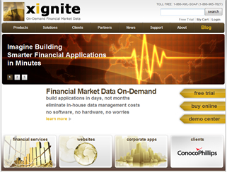 Xignite On-Demand Financial Market Data