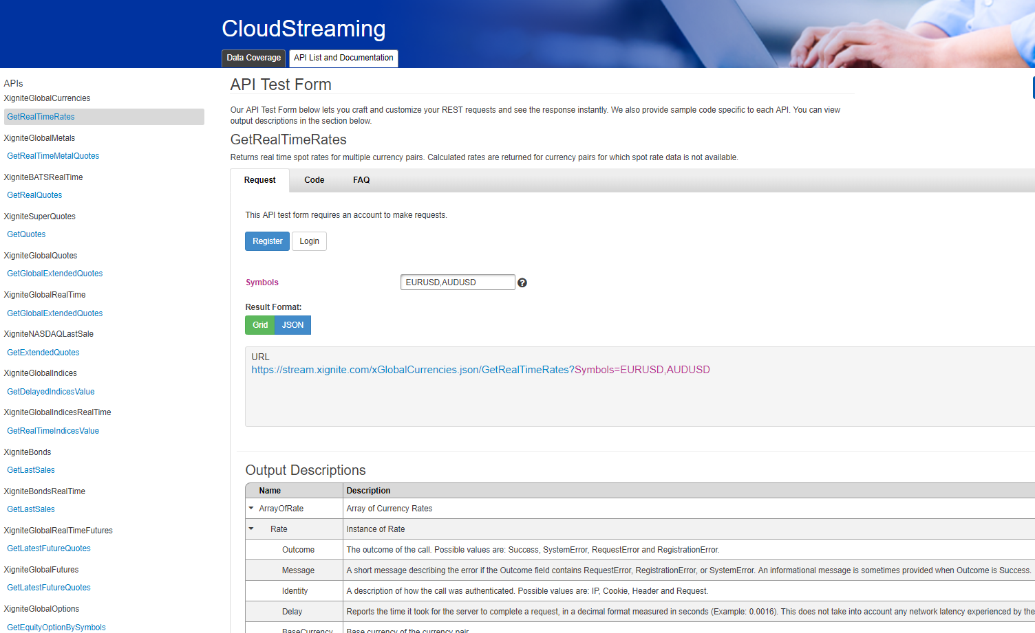Demo | Real-Time Streaming Quotes API | Xignite