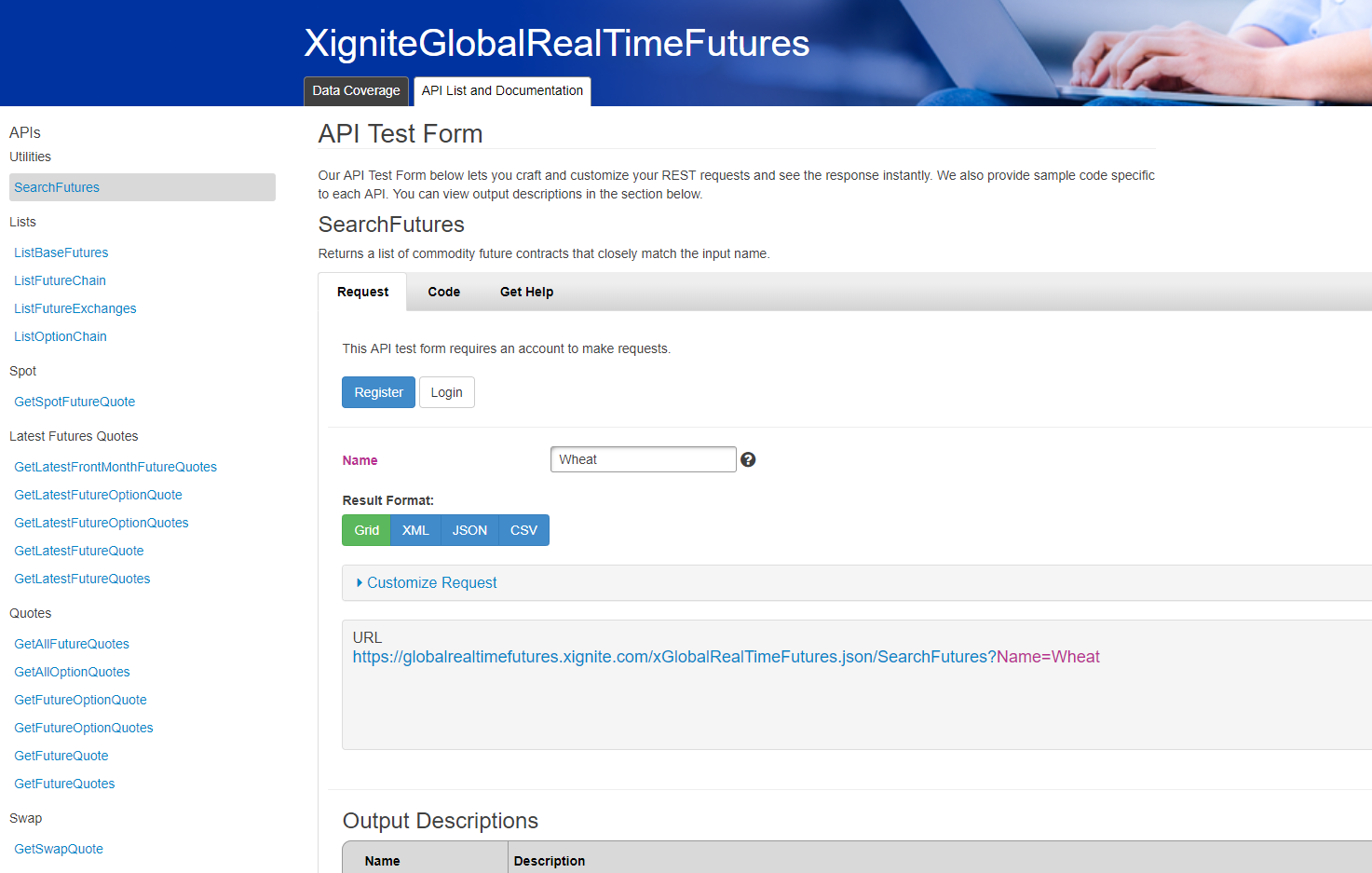 Demo   Real-Time Futures API   Xignite
