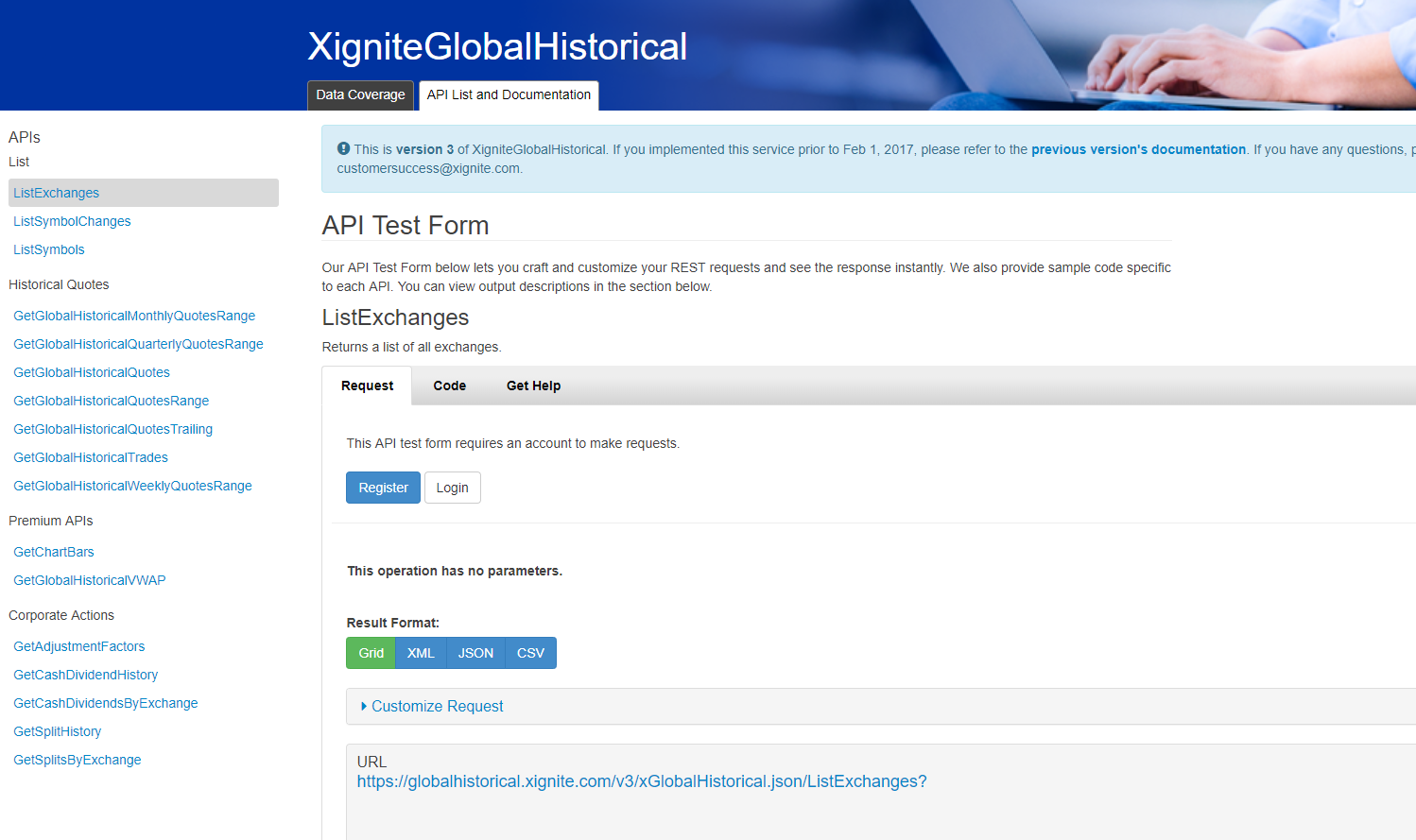 Free Trial | Historical Stock Quotes API | Xignite
