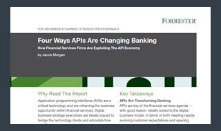 Four Ways APIs Are Changing Banking